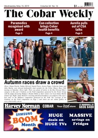 online magazine - The Cobar Weekly, May 15, 2019