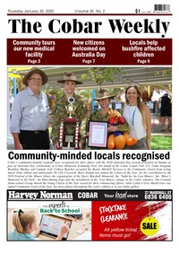 online magazine - The Cobar Weekly January 30, 2020