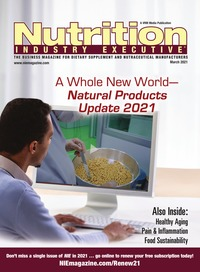 online magazine - Nutrition Industry Executive March 2021